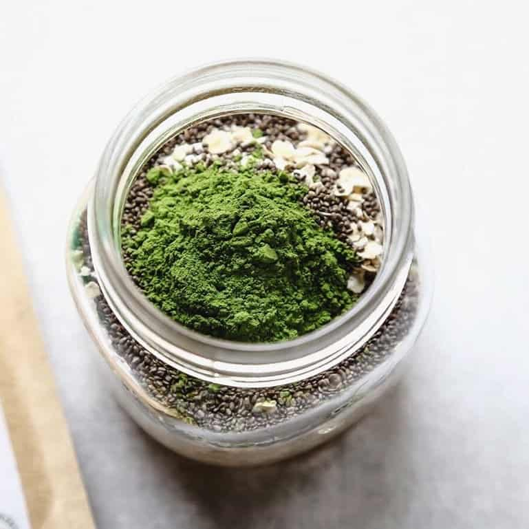 matcha-overnight-oats-ingredients