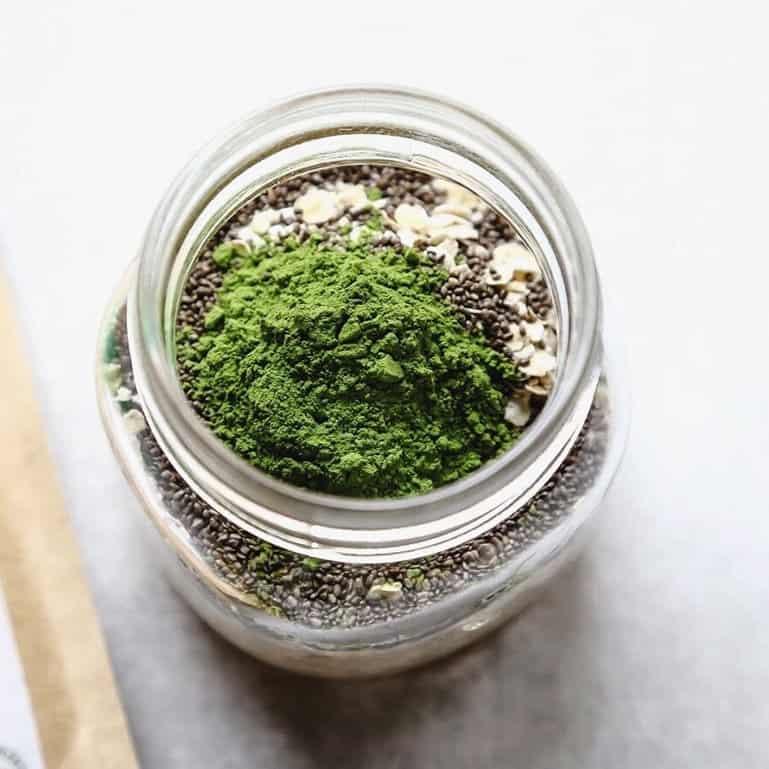 matcha-overnight-oats-ingredients