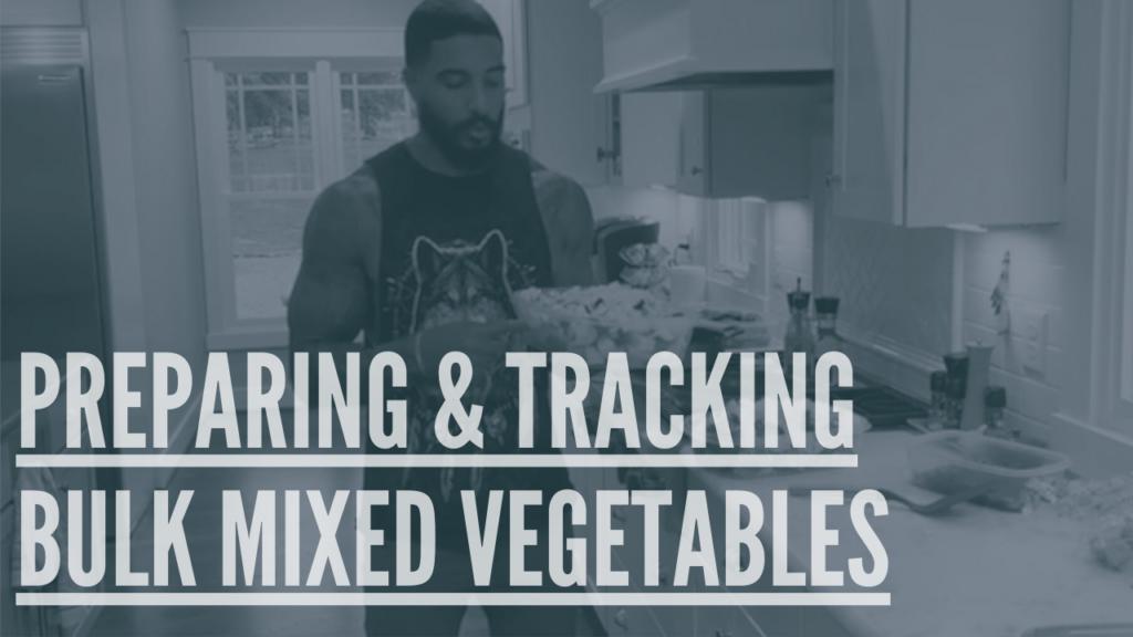 preparing bulk vegetables stir fry food prep