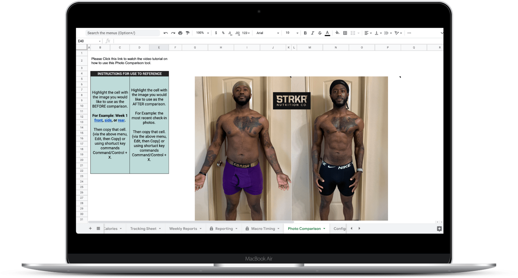 straker nutrition company done for you client check-in system bonus 3 photo comparison nutrition coaching tool for online trainers and coaches